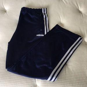MEN ADIDAS TRACK BUTTON PANTS ALL SPORTS SIZE S
